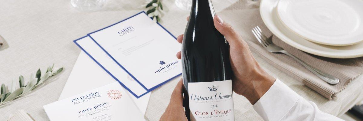 Vin champagne cadeau client